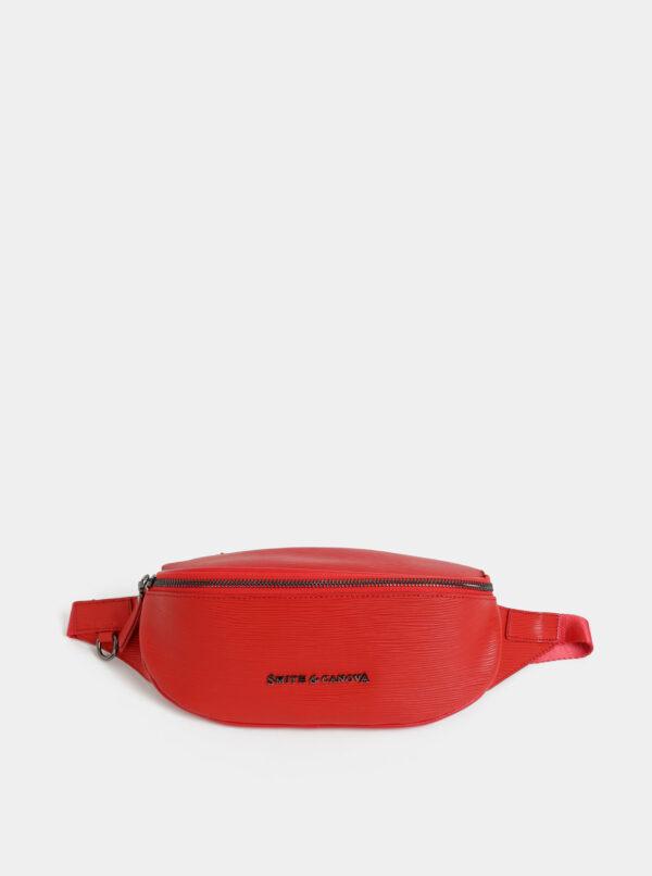Červená kožená ľadvinka Smith & Canova