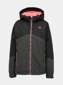 Čierno-šedá dámska nepromokavá zimná bunda SAM 73