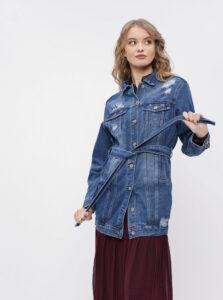 Modrá dámska dlhá rifľová bunda Haily´s Alina