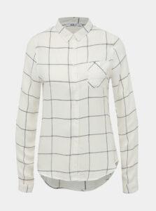 Biela dámska kockovaná košeľa Haily´s Meral