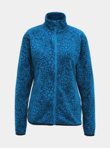 Modrá dámska fleecová kvetovaná mikina SAM 73