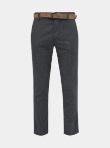 Tmavomodré pánske chino nohavice Tom Tailor Denim