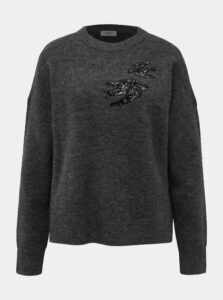 Tmavošedý sveter Jacqueline de Yong Kayden