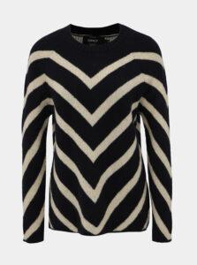 Tmavomodrý vzorovaný sveter ONLY Eliza