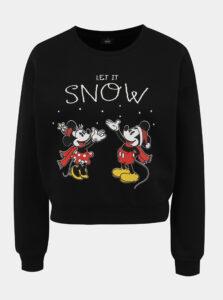 Čierna mikina s vianočným motívom ONLY Disney