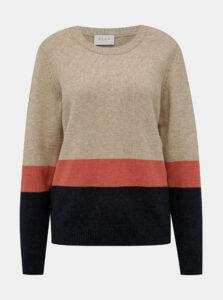 Béžový sveter VILA Ril Block