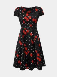 Čierne bodkované šaty Dolly & Dotty Claudia