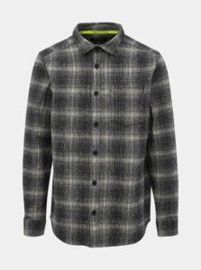 Tmavomodrá flanelová košeľa ONLY & SONS Oconnor