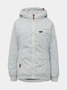 Biela dámska vzorovaná zimná bunda Alife and Kickin Black Mamba A