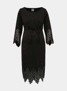Čierne tehotenské šaty Mama.licious Alaia