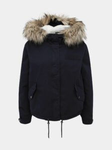 Tmavomodrá zimná bunda ONLY Loreo