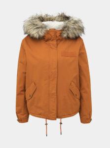 Oranžová zimná bunda ONLY Loreo