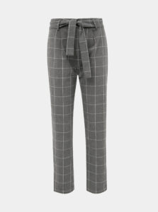 Šedé kockované nohavice Jacqueline de Yong Puca