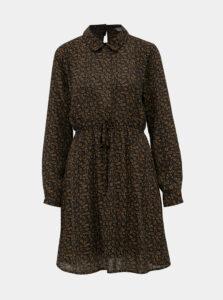 Čierne vzorované šaty Jacqueline de Yong Plum
