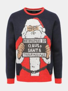 Modrý sveter s vianočným motívom Shine Original