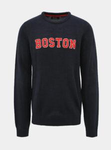 Tmavomodrý sveter s nášivkou Shine Original