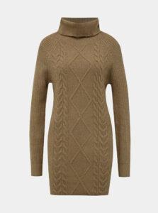 Hnedé svetrové šaty s rolákom TALLY WEiJL Typa