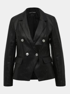 Čierne koženkové sako TALLY WEiJL Fu