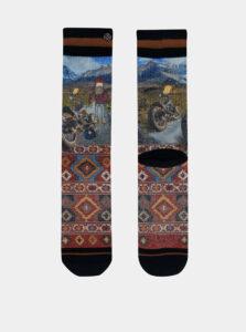 Modro-červené pánske ponožky XPOOOS