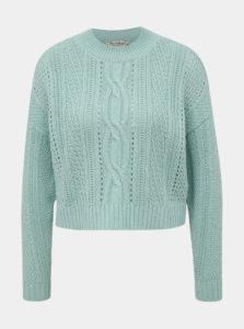 Mentolový sveter Miss Selfridge