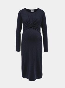 Tmavomodré tehotenské šaty Mama.licious Selena