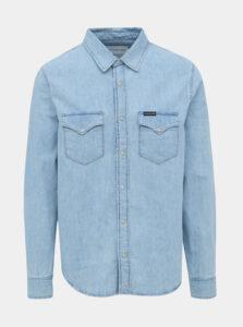 Svetlomodrá pánska rifľová košeľa Calvin Klein Jeans