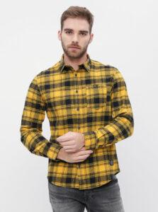 Žltá flanelová kockovaná košeľa Shine Original