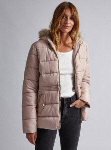 Svetloružová prešívaná zimná bunda Dorothy Perkins