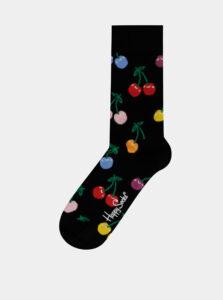 Čierne vzorované ponožky Happy Socks Cherry