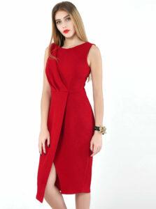 Červené púzdrové šaty Closet