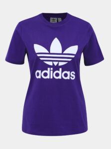 Fialové dámske tričko adidas Originals Trefoil