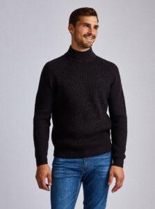 Tmavomodrý sveter Burton Menswear London Wardour