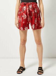 Červené kvetované tehotenské kraťasy Dorothy Perkins Maternity