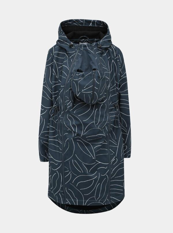 Tmavomodrý vzorovaný tehotenský kabát s vsadkou Mama.licious Shella