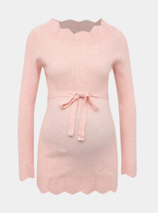 Rúžový tehotenský sveter Mama.licious New Eva
