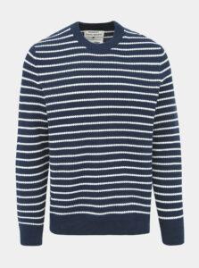Tmavomodrý pruhovaný sveter ONLY & SONS Dave
