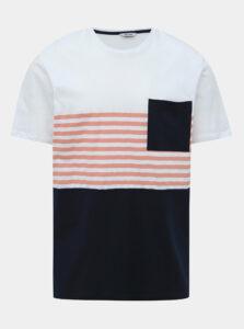 Modro-biele tričko ONLY & SONS Del