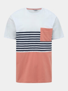 Ružovo-biele tričko ONLY & SONS Del