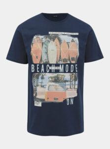 Tmavomodré tričko ONLY & SONS Cam