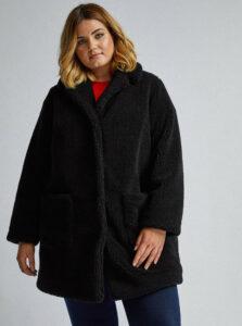 Čierny kabát z umelého kožúšku Dorothy Perkins Curve