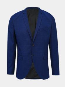 Modré oblekové sako s prímesou vlny Jack & Jones Solaris