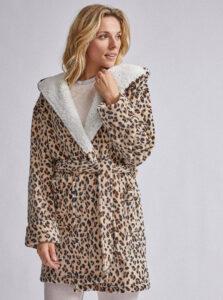 Hnedý župan s leopardím vzorom Dorothy Perkins Robe