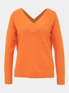 Oranžový sveter VILA Ril