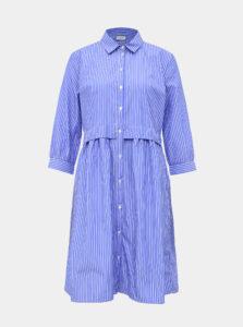 Modré pruhované košeľové šaty Jacqueline de Yong Renna