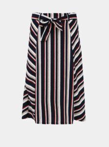 Tmavomodrá pruhovaná sukňa Jacqueline de Yong Rosie