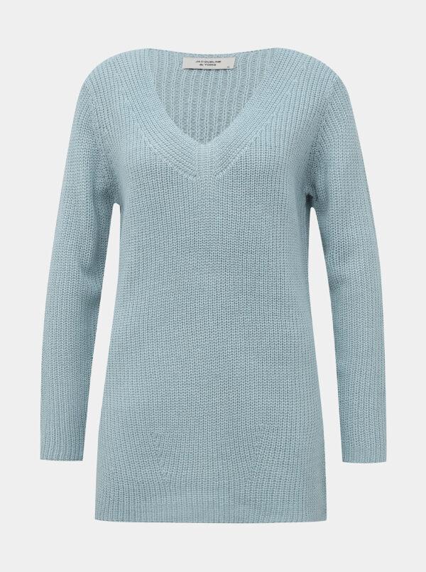 Svetlomodrý basic sveter Jacqueline de Yong Dusty
