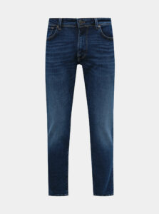 Tmavomodré straight fit rifle Selected Homme Scott