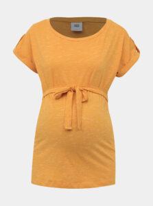Horčicové tehotenské tričko Mama.licious Anthea