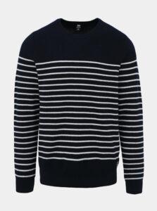 Tmavomodrý pánsky pruhovaný sveter HELLY HANSEN Skagen