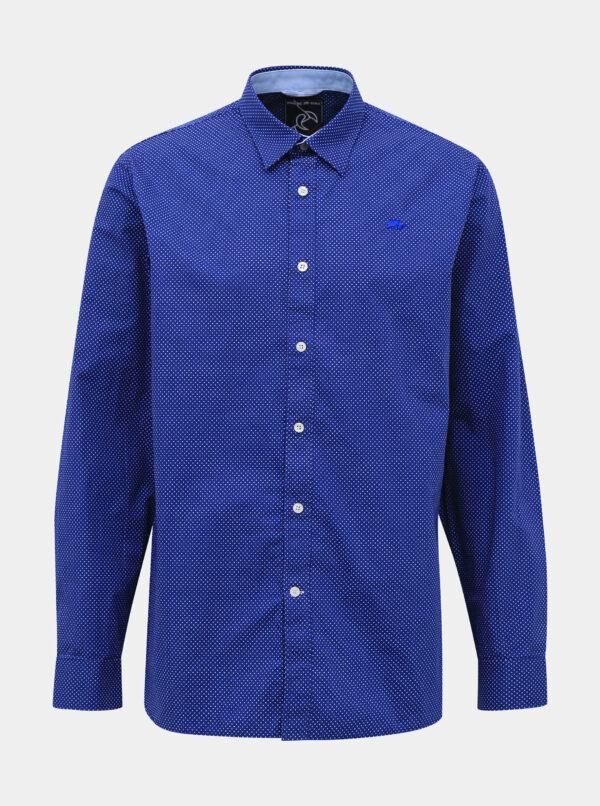 Modrá bodkovaná košeľa Raging Bull